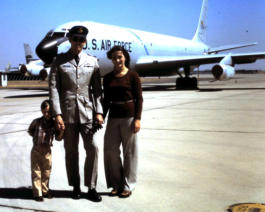 Bob with his family, Mather AFB, California, 1976