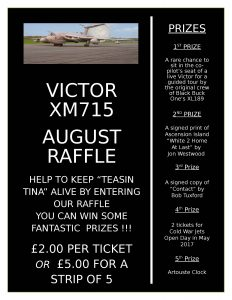 Victor XM715 raffle August 2016